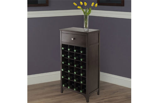 Winsome Ancona Modular Wine Storage Cabinets with Drawer