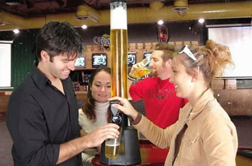 BarproductBeer Towers with Ice Tube and Cup Holder