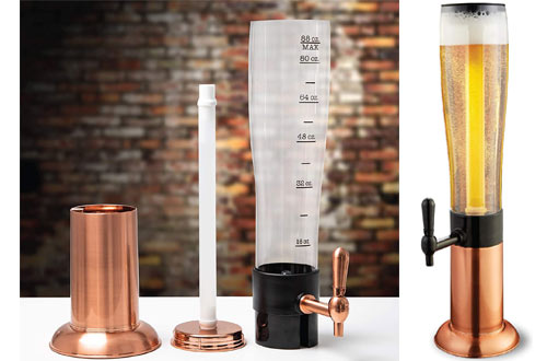 Refinery Beer Tower Dispenser with Tap and Freeze Tube