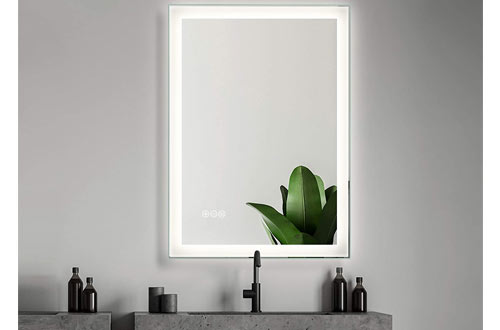 SMART COOM Wall Mounted LED Lighted Bathroom Mirror