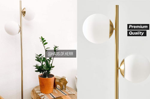 Brightech Sphere Mid Century Modern Lamps for Bedrooms and Offices