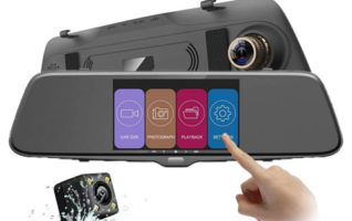 Autowit IPS Mirror Dash Cams with Front and Rear Dual Lens